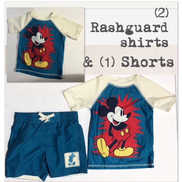 6bb3ba9e24 Disney / Junk Food Other - Disney /Junk food Mickey rash guards & Swim Short